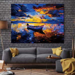 Abstract Modern Landscape Wall art canvas poster