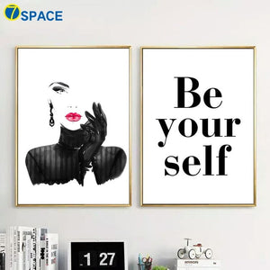 Fashion Woman Quotes Home Decor Wall Art Canvas