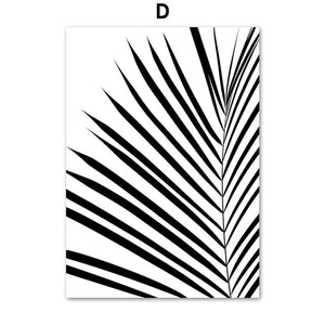 Unicorn Panda Palm Leaves Nordic Posters wall art poster