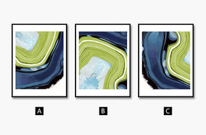 Modern abstract Watercolor Wall Art Canvas Painting