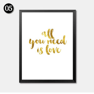 Archi Gold Quote Typography Posters - premium Interior Ideas
