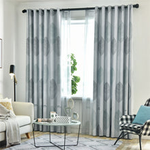 Archi Beige Leaves Blackout Curtains Thick - Living Room Decor ideas and Modern Interior