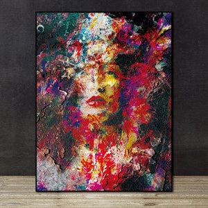 Abstract Figures wall art canvas poster