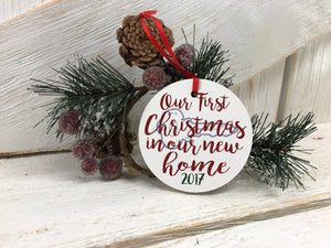 e876e3cdfe3c3 Our first Christmas in Our New Home Ornament – Hentges Crafts LLC