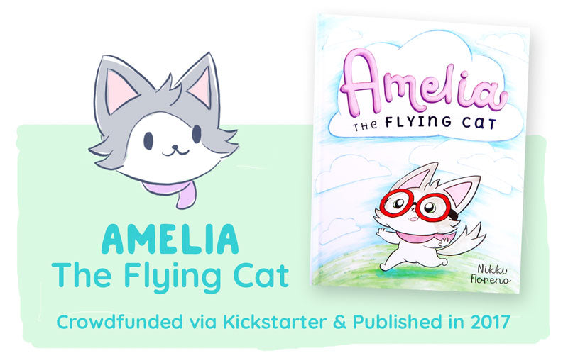 Amelia the Flying Cat. Children's book crowdfunded and published in 2017