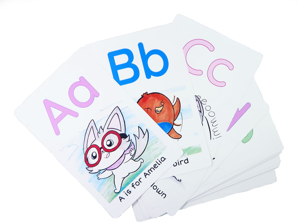 ABC Cards with Amelia the Flying Cat - Fables & Fauna