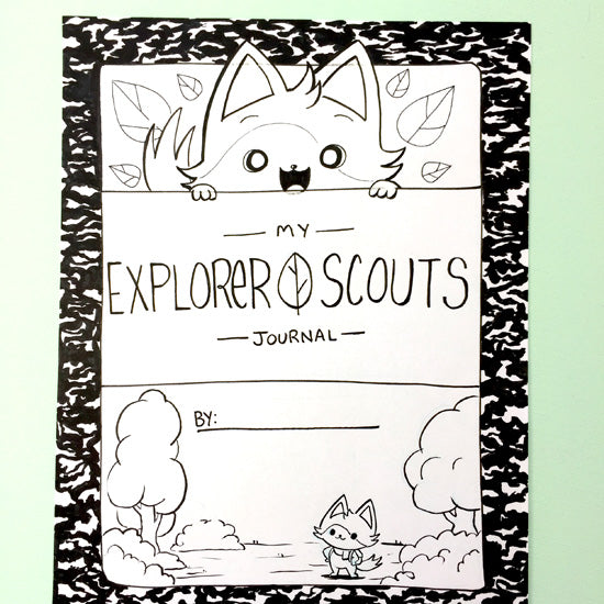 "[Print-Your-Own] ""Amelia's Explorer Scouts"" Activity Book - Fables & Fauna"