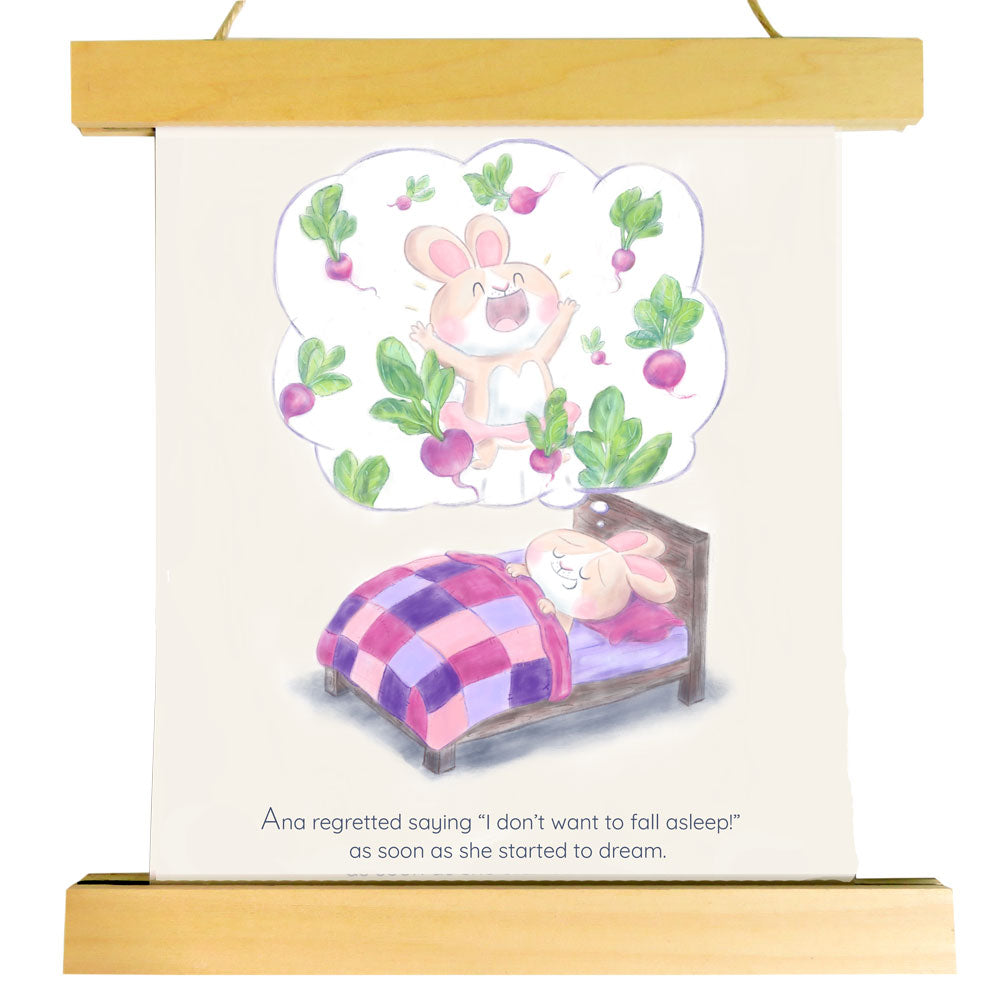 "Nursery Art Print - Ana's Radish Dreams - ""Curated by You"" Tortoise and Hare Art Collection"