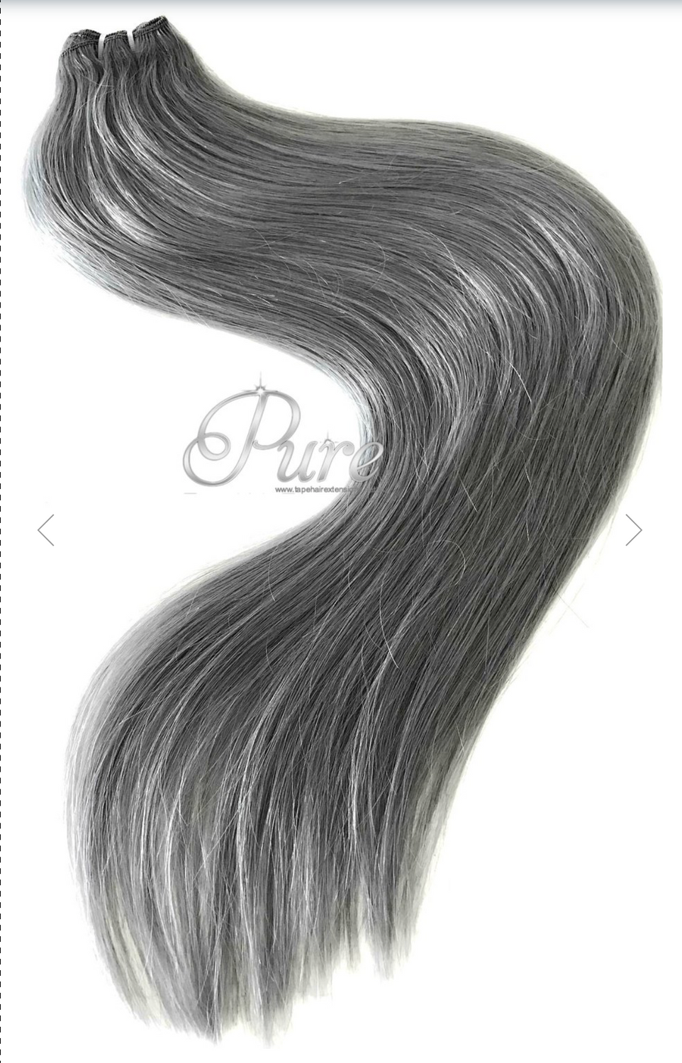 Zippay The Grey Hair Collection Pure Tape Hair Extensions