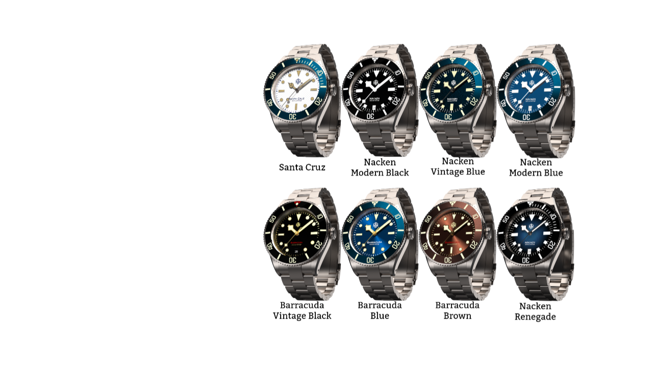 NTH Sub Diver watches collection. 8 Brand new microbrand watches coming out over the next couple months.