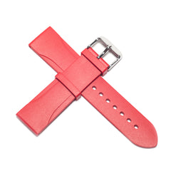 22mm Natural Rubber Strap - Red