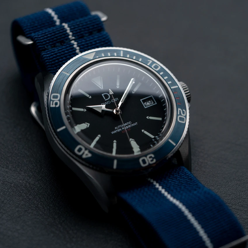 DIY Dive Watch Kit - Blue Bezel