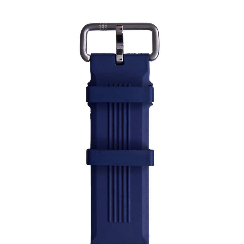 Blue Embossed Rubber Strap