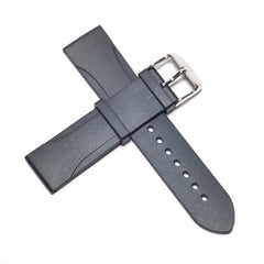 22mm Natural Rubber Strap - Black