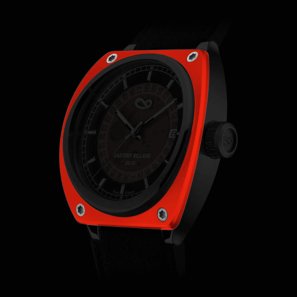 Sartory Billard Flame Orange Ceramic Bezel