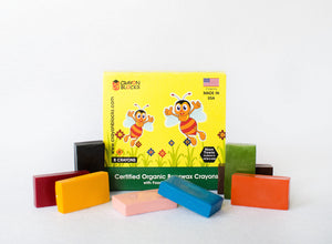 Organic Beeswax Crayons with FDA approved  Colors, Made in USA