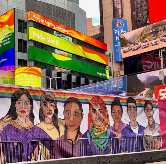 Times Square Art Banner Donation Program