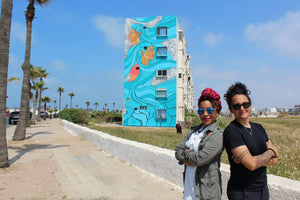 CASAMOUJA: Casablanca, Morocco The first women to participate in street art in Morocco