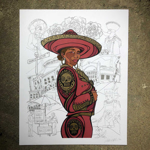 Flor de Toloache, Silk Screen by Sam Kirk