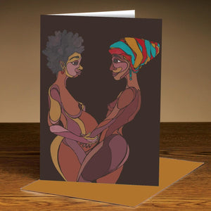 2 Mothers Greeting Card
