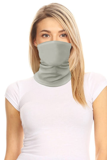 Gray Neck Gaitor Mask