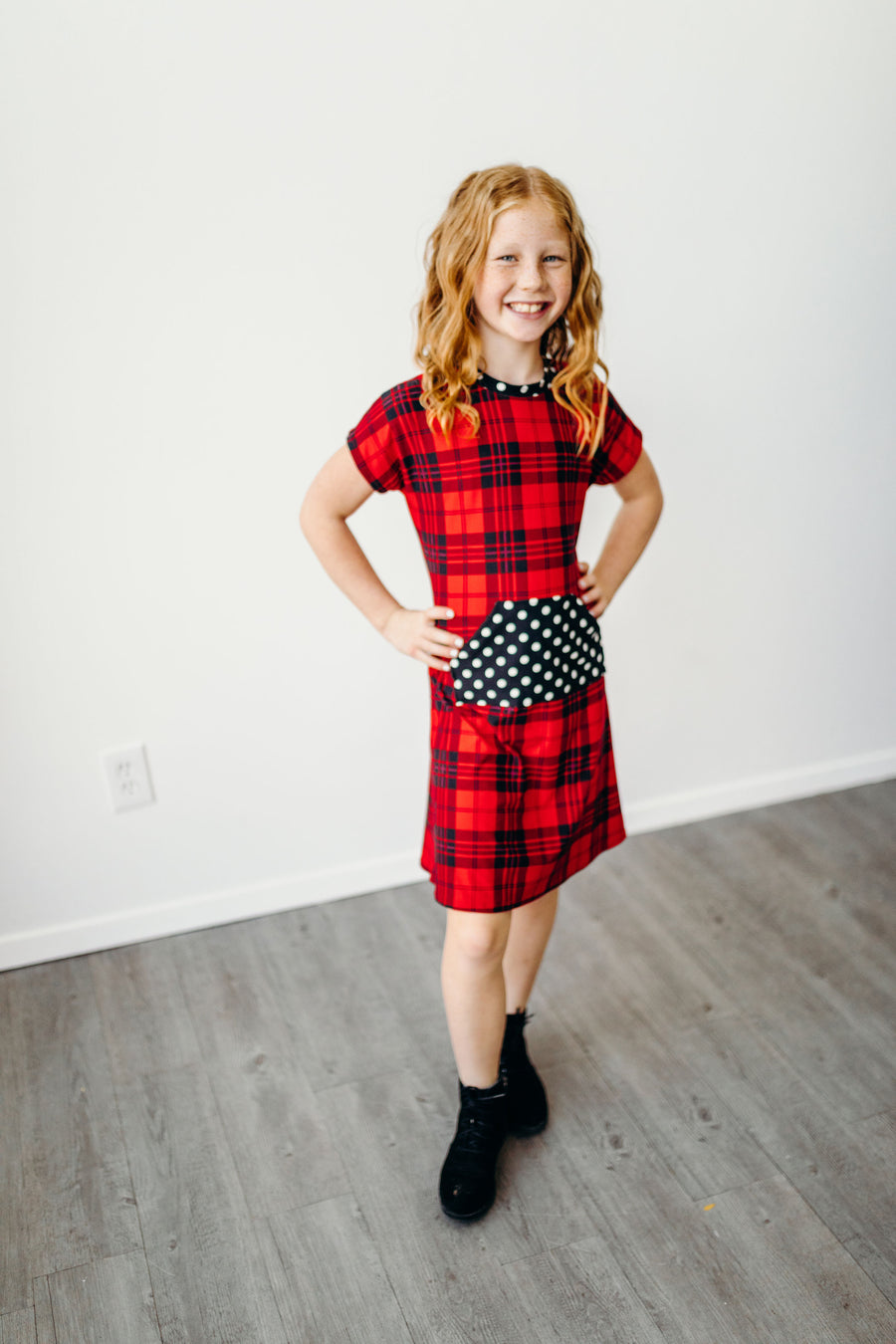 Red Plaid Mini Joey