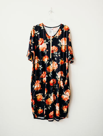 Fall Floral Classic Zip