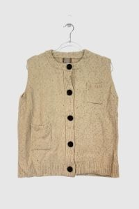 Cozy Oatmeal Sweater Vest