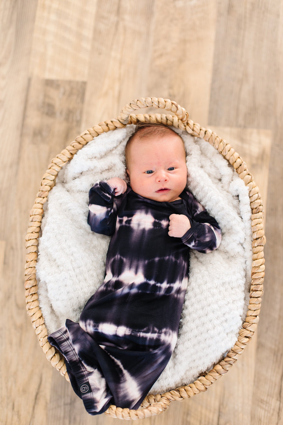 Black Stripe Tie Dye Baby Set