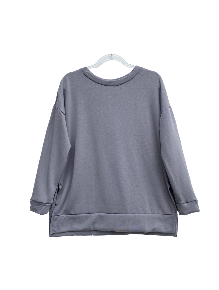 Grey Butter Pullover Sweatshirt