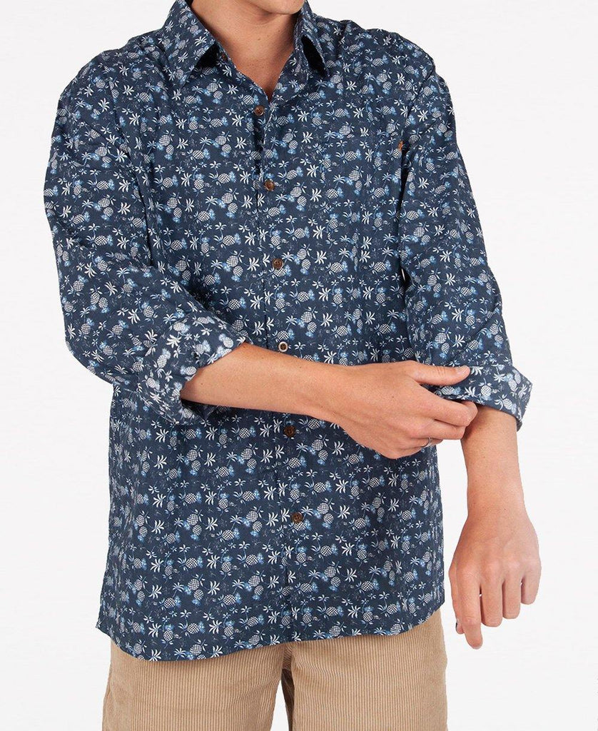 Small Pineapple LS Shirt | Navy