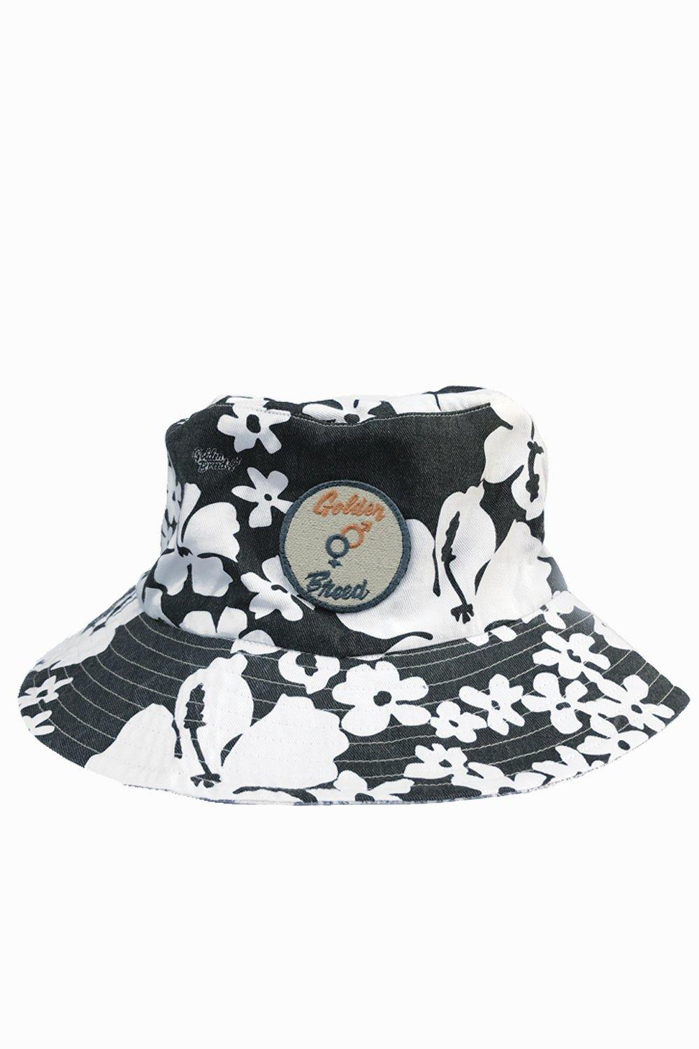 BARKLY FLORAL BUCKET HAT - Mid Navy