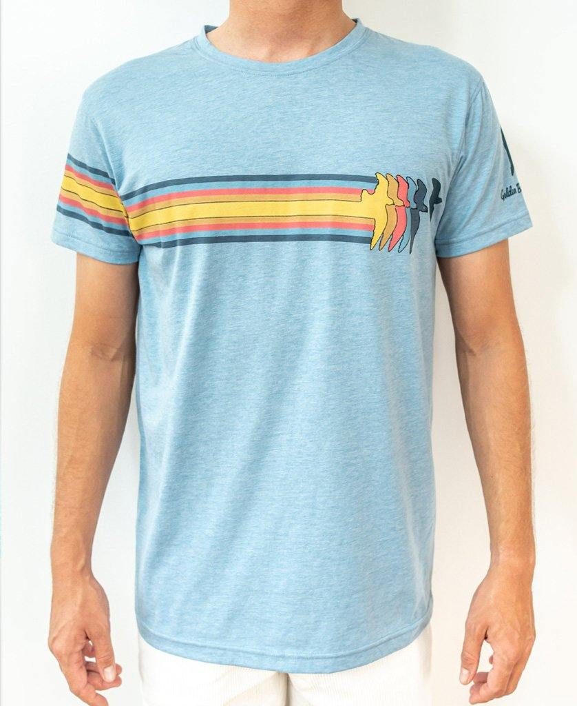 Bird Deluxe Tee | Sea Blue Marle