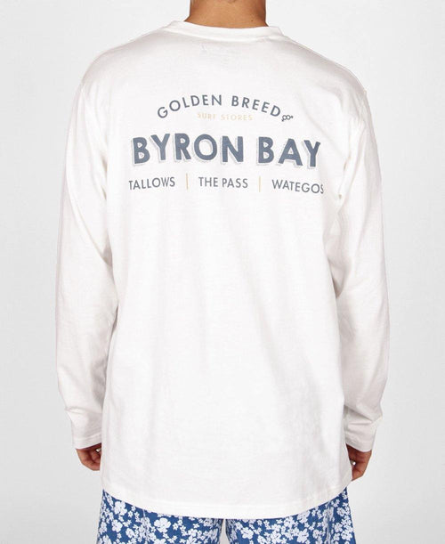 Byron Old Schoo LS Tee | Off White
