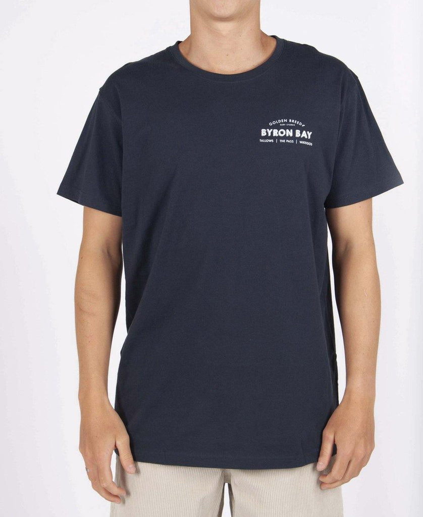 Byron Old School Tee | Navy