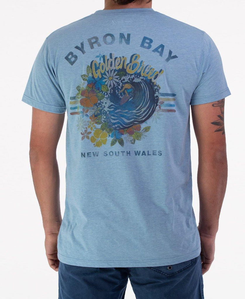 Byron Tropical Tee | Sea Blue Marle