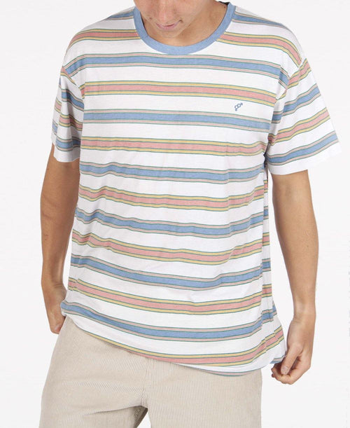 Dee Why Stripe Tee | Cream