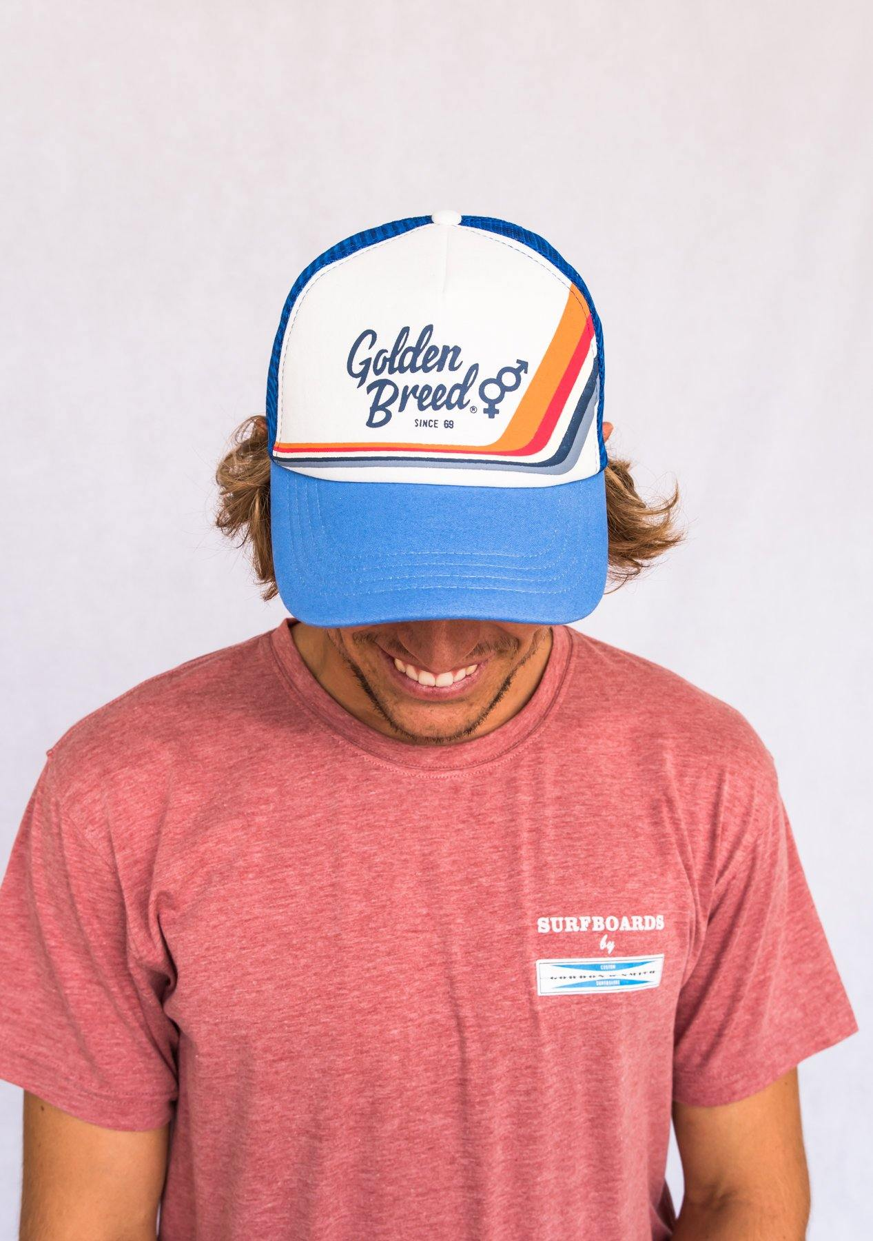 GB Retro Trucker Cap | Blue