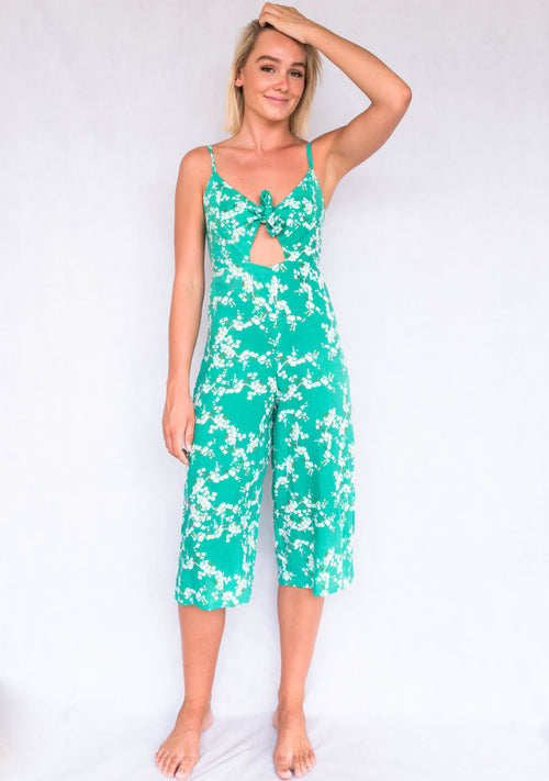 Zoey Jumpsuit | Green Floral