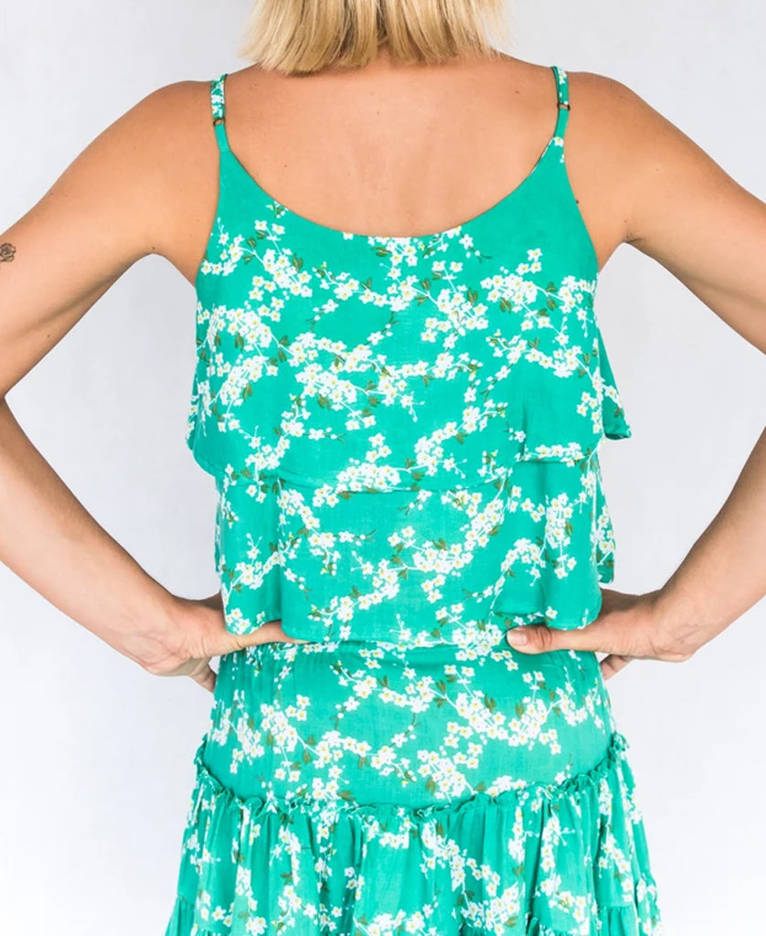 Faith Top | Green Blossom