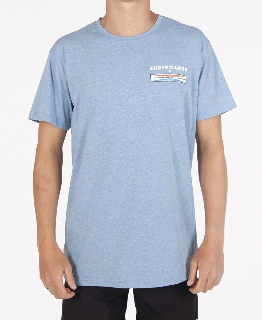 The Big Three Tee | Sea Blue Marle