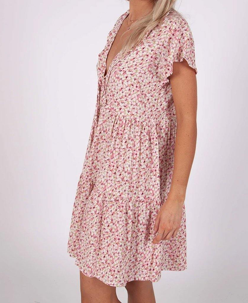 Hannah Dress | Pink Daisy