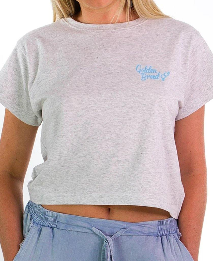 Hattie Crop | White Misty