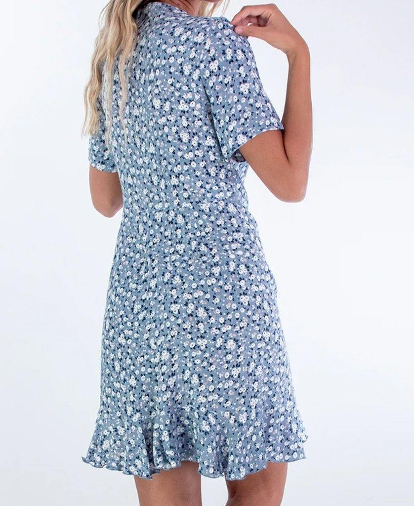 Mary Dress | Blue Daisy