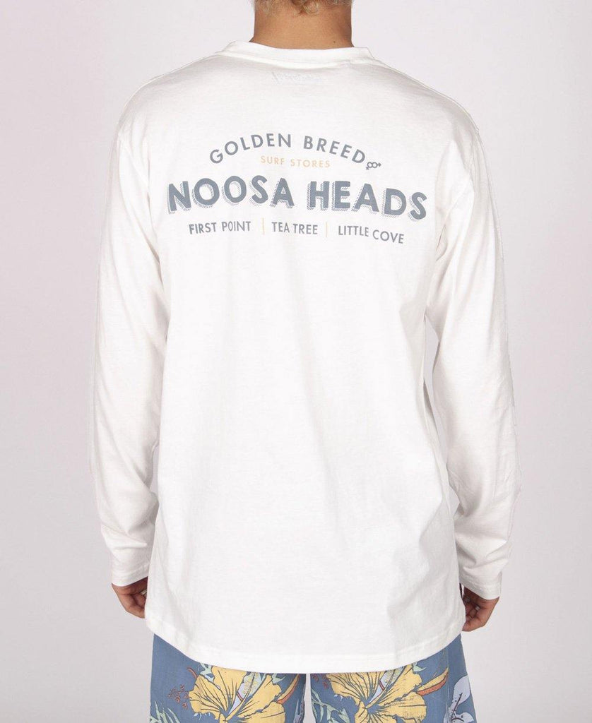 Noosa Old School LS Tee | Off White