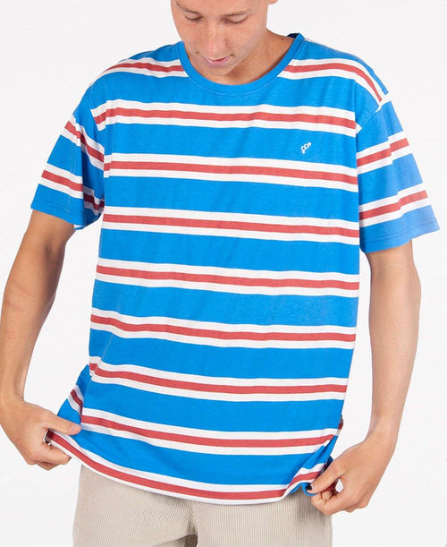 Stripe Tee | Washed Cobalt