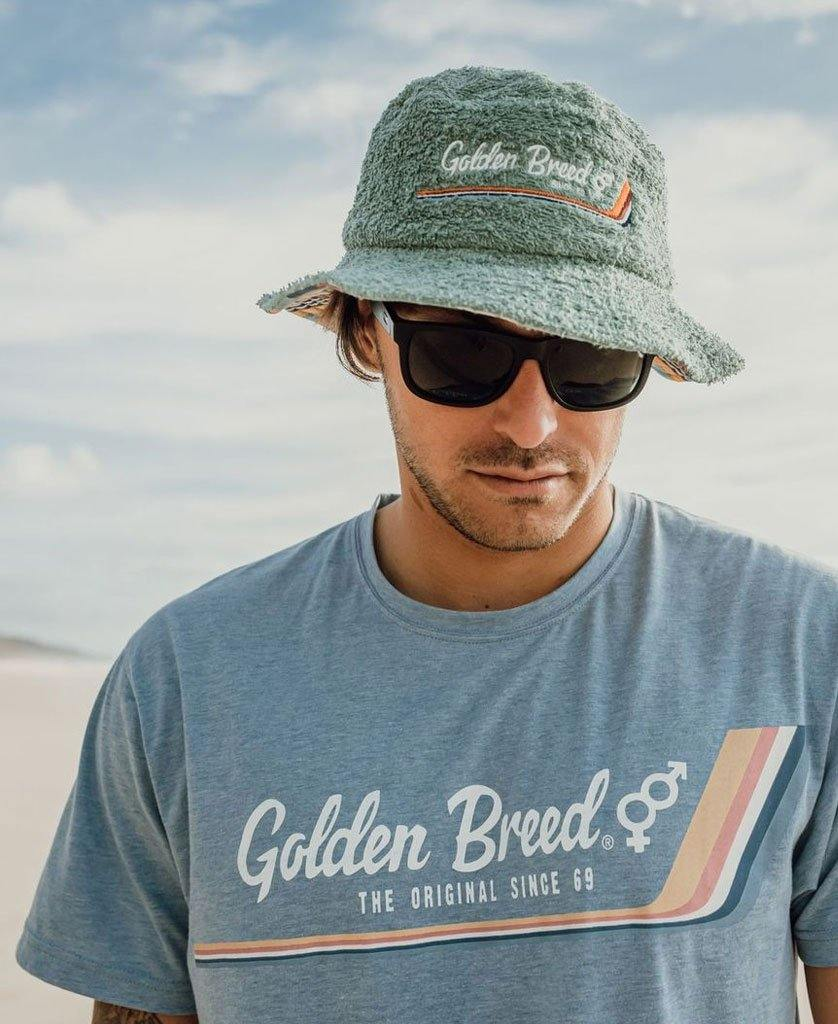 Deluxe Retro Surf Tee | Sea Blue Marle