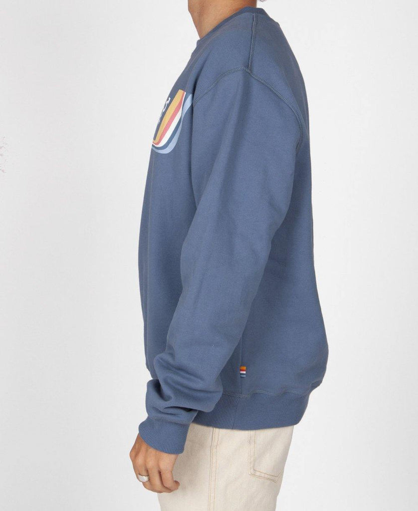 Retro Old School Windcheater | Dusty Blue