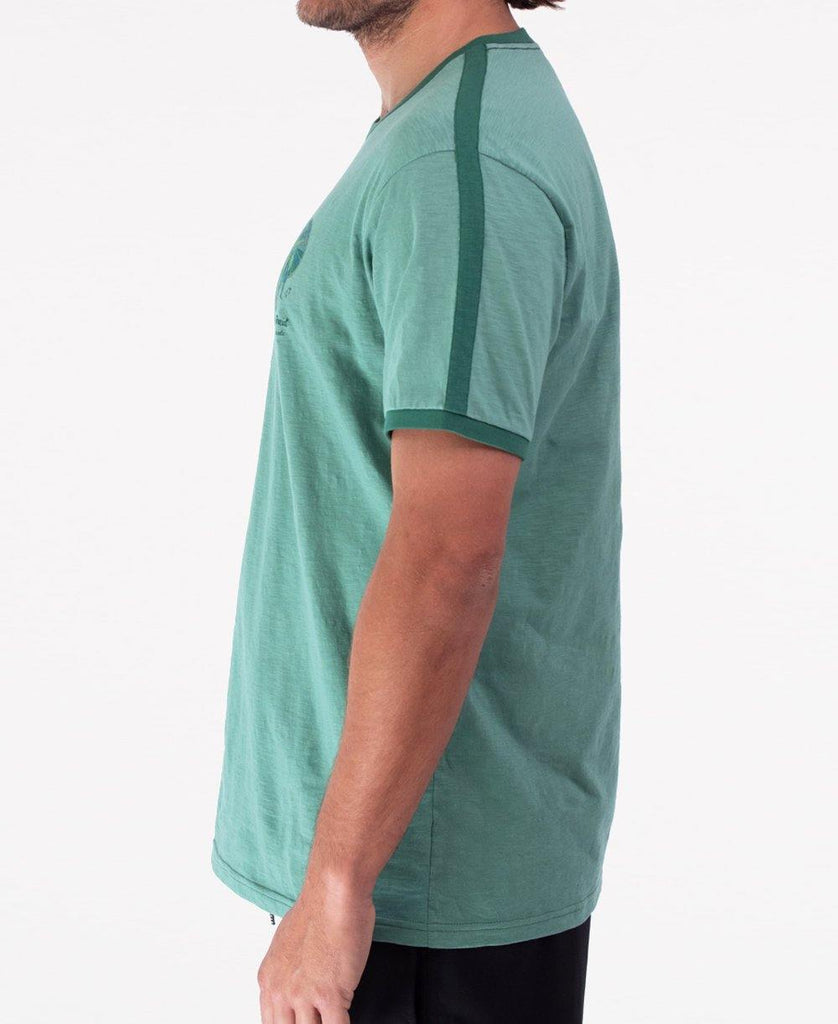 Ringer Tee | Surf Green