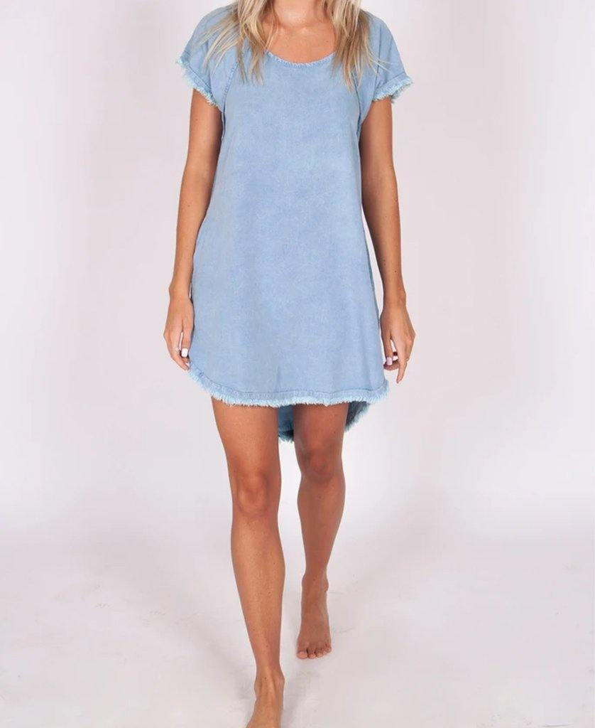 Robbie Dress | Stone Wash